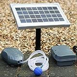 Aérateur Bassin Solaire avec Batterie 3,5W - Oxygénateur Solaire, Pompe à Air pour Etang, Jardin, Aquarium de PK Green