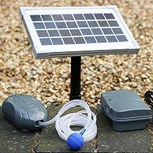 PK Green-  Oxigenador Solar con Batería para Estanque, Pesca - Bomba de Aire Exterior Jardín - Aireador con Piedra de Aire