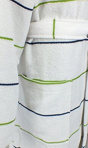 Damen Bademantel Morgenmantel Saunamantel mit Kapuze 4028 Weiß