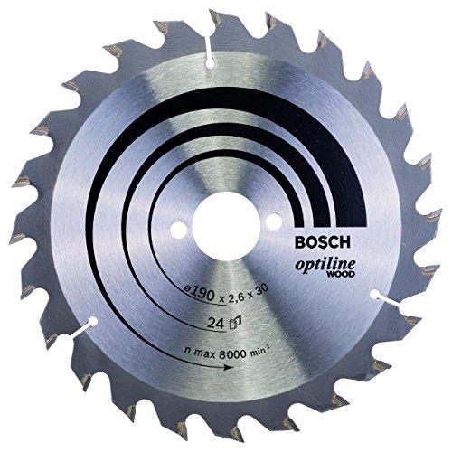 BOSCH 2 608 640 615  - HOJA DE SIERRA CIRCULAR OPTILINE WOOD - 190 X 30 X 2 6 MM  24 (PACK DE 1)