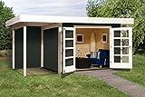 Weka 126.3030.46101 Designhaus 126 A Gr.3, anthrazit, 28 mm, DT, Anbau 150 cm, ohne RW Außemmaß:500 x 375 x 226