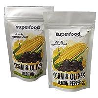 The Superfood Company, Corn & Olives, 40g (Lemon pepper & Oregano)
