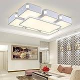 Rectangulares Lampara de salon acrílico LED de luz de techo lámpara de dormitorio moderno minimalista la lampara de salon Focos para el techo