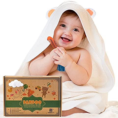 Serviette à capuche bébé: Best Organic Bamboo Baby Hooded Towel - Extra Soft Baby Bamboo Hooded Towel Keeps Baby Dry and Warm - Eco-Friendly Baby Bath Towels with Hood