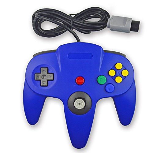 pomilan 1Pack Classic Retro Controller für Nintendo 64(Blau) (Retro Nintendo Controller)