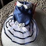 Blau Marine Sommer-Hundekleid-Rock-Welpen-Prinzessin Dress Bow-Knoten Hunderock