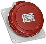 Schneider electric pkf16F735Papillote Base de prise inclinée, vis captif, 3p + n + t pôles, IP67, 16A 380/415V