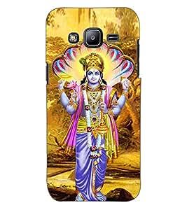 ColourCraft Lord Vishnu Design Back Case Cover for SAMSUNG GALAXY J2 J200G