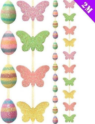 und Schmetterling Party Girlande 2m Frühjahr Dekoration Spaß ()