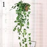 FYYDNZA 1 Stücke Wand Montiert Simulation Grünen Rattan Rebe Dekoration Blume Pflanze Wand Korb Immergrün Für Haus Und Garten, 1