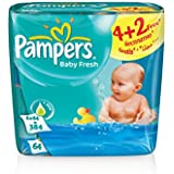 Pampers Baby Fresh Serviettes - 6x64pcs
