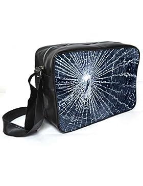 Snoogg gebrochenen Bildschirm Leder Unisex Messenger Bag für College Schule täglichen Gebrauch Tasche Material PU