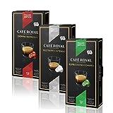 Café Royal Italian Editions Set - Je 10 Nespresso kompatible Kapseln in den Geschmacksrichtungen Espresso Macchiato, Ristretto Intenso und Doppio Espresso