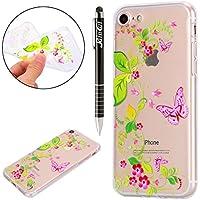 iPhone 8 Hülle,iPhone 7 Hülle,iPhone 7/8 Silikon Hülle Tasche Handyhülle,SainCat Flamingo Blumenfee Muster TPU... preisvergleich bei billige-tabletten.eu