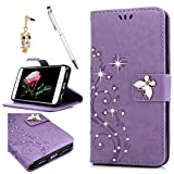 Geniric Huawei P8 Lite 2017 Wallet Case, Bling Leather