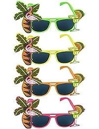 Sonnenbrille Mit Tropischen Farben Für Kostüm Hawaii Strandparty