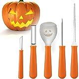 Couteau à Découper Citrouille Outils de Sculpture de Citrouille d'halloween Enfants Ensemble de à la Main 5 Pièces en Acier I