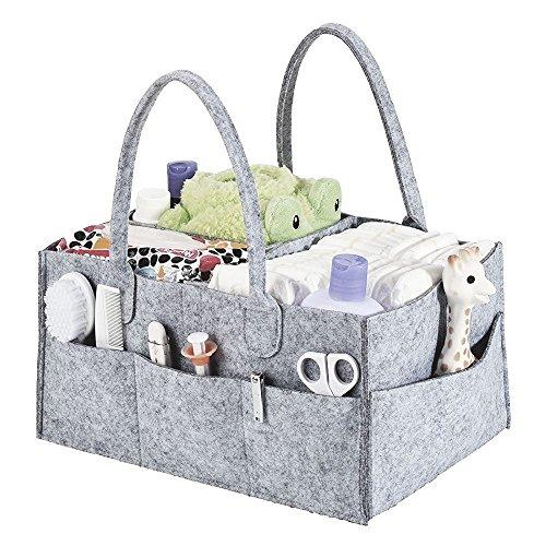 Baby Wickeltasche Tragbar Grau Multifunktionale Windel Tasche Unisex Wickel Taschen Modern mit Wandelbare Klett Fächer für Windeln /Baby Wipes (Unisex-baby-windel-tasche)