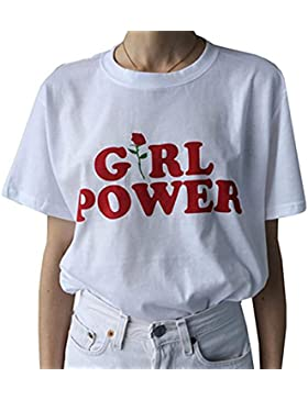 Yeesea Mujeres Verano Algodón Impresión Manga corta T-Shirt Casual Top Blusa Camisetas