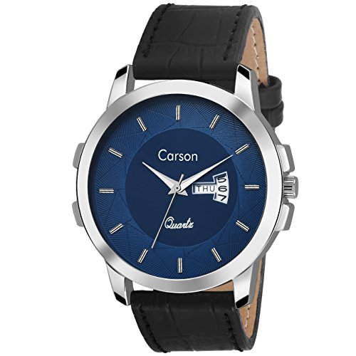 Carson CR7116 Dynamo Day-n-Date Watch - For Men