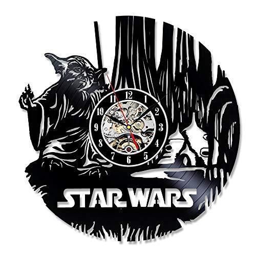 Star Wars Death Star Designed Wanduhr - Dekorieren Sie Ihr Zuhause mit Modern Large Darth Vader und Luke Skywalker Art f (Herr Luke Valentine)