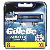 Gillette Mach3 Turbo Rasierklingen für Männer, 8 Stück