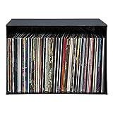 Vinyl | Schallplatten | Regal | Schallplattenregal für 100 LPs| 4mm Stahl | Industrie Design| Rohstahl Klarlack