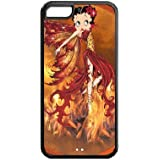Character Betty Boop Custom Case FOR Apple iPhone 5C BLACK Plastic Snap Slim Case