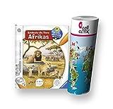 Ravensburger tiptoi  Buch - Entdecke die Tiere Afrikas + Kinder Tier-Weltkarte - Tiere, Länder, Kontinente by Collectix