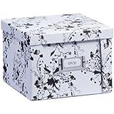Zeller DVD-Box, Wood, White Floral, 21.5 x 20.5 x 15 cm