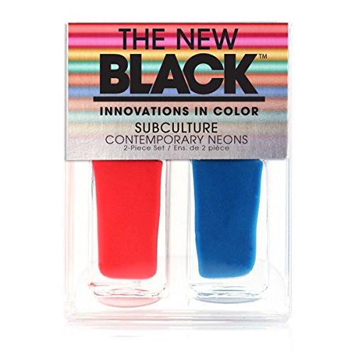 Le nouveau noir sous-culture contemporain Neons Bright Lights Big City Vernis à ongles Duo – Lot de 3