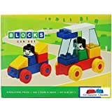 GRAPPLE DEALS Kinder Blocks Car Set - Interlocking Architectural Set For Kids.(Multicolor)