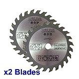 Due lame circolari 85mm di diametro x 10mm di calibro x 24 denti per tagliare il legno