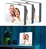 infactory Bilderrahmen: 3er-Set LED-Leuchtkasten für Bilder auf Folie & Papier, DIN A4-Format (LED-Lightbox)