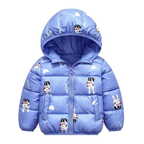 LEXUPE Baby Schneeanzug Jungen Strampler Mädchen Overall Winter Babykleidung(Blau,130)