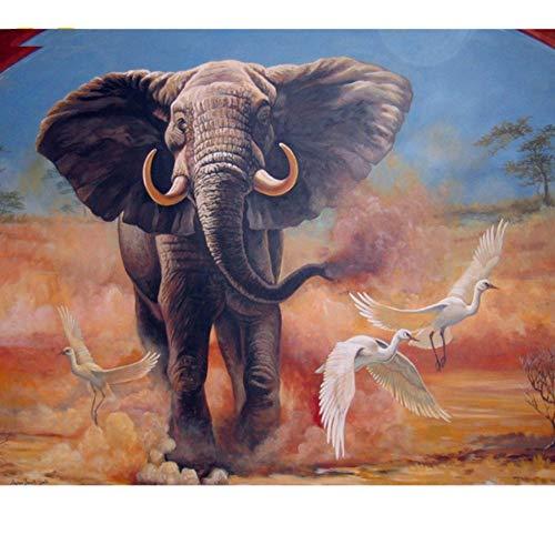 Yqgdss Dibujos para Colorear por Números Animales Pósters De Elefantes En La...