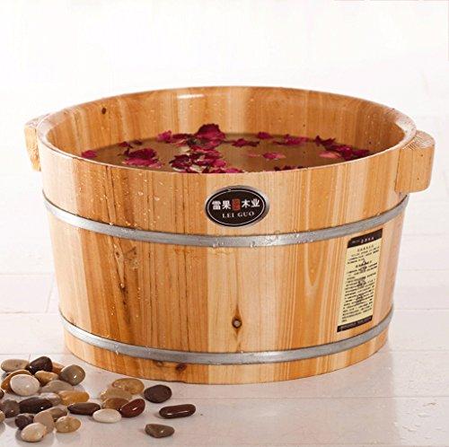 DGF Fuß Badewanne, Home Massivholz Akupunkturpunkte Massage Fuß Becken (L40cm * H21cm)