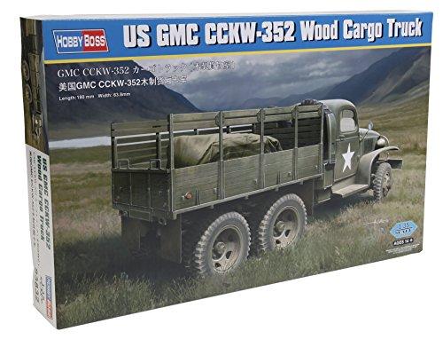 Hobbyboss Echelle 1 : 35 cm Nous GMC CCKW 352 Bois Camion Cargo modèle Kit (Gris)