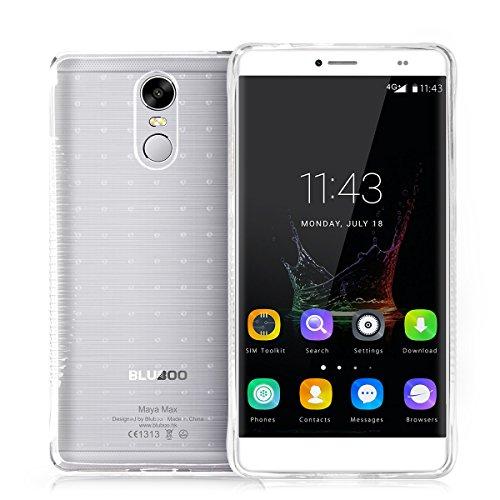 Bluboo Maya Max 4G Smartphone 6.0 'funda de carcasa (transparente)