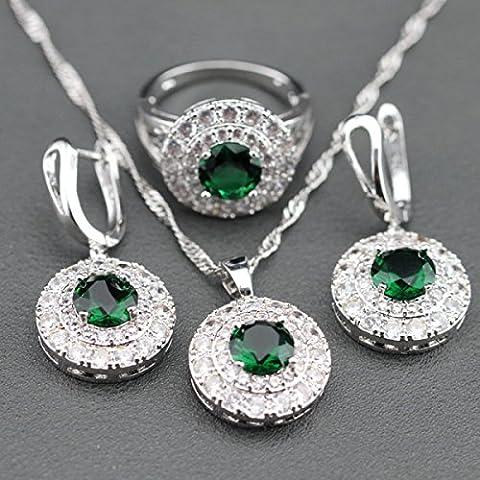 Modeschmuck Anzüge Dreiteilige Ringe Anhänger