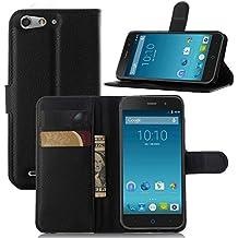 Guran® Funda de Cuero Para ZTE Blade V6 Smartphone Tirón de la Cubierta de la Función de Ranura Tarjetas y Efectivo Caso