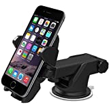 Soporte universal para celular (móvil), para coche / auto. Para parabrisas y tablero, de largo brazo ajustable de 180 grados, se adapta a cualquier dispositivo. MMOBIEL