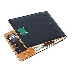 Portafoglio Uomo di Classe in Pelle Nera di Qualità con Protezione RFID/NFC 8 Tasche per Carte di Credito e Portamonete Pelle Wallet Classico e Slim (nero)