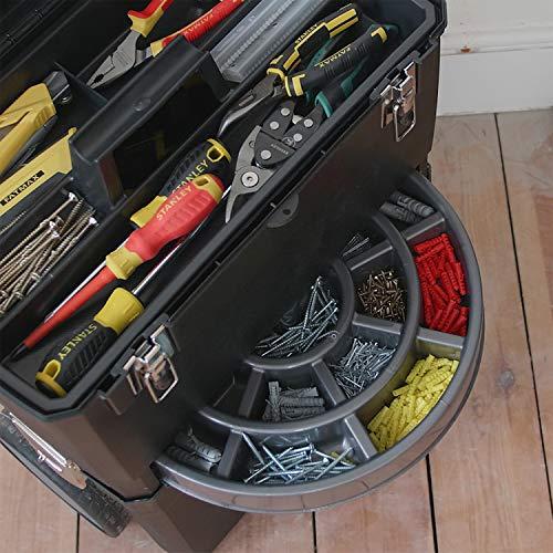 Stanley Rollende Werkstatt / Werkzeugwagen (47.3×30.2×62.7cm, zwei seperat verwendbare Werkzeugboxen, robuster Kunststoff, zwei Einheiten, Metallschließen, Organizer) 1-93-968 - 9