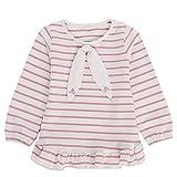 Yamhoo Baby Mädchen Herbst Winter Langärm Gestreiftes Hemd mit Boden Weibliche Kinder Lotusblattsaum Puppe Sweatshirt