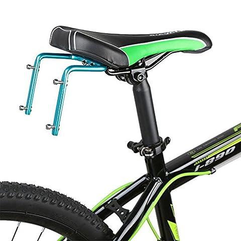 Lugii Cube Support Cage adaptateur Rack pour vélo Siège arrière de selle en alliage d'aluminium Double Bouteille d'eau, bleu