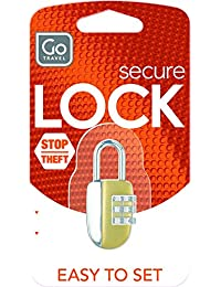 Go Travel Multi-Colour Luggage Lock (332)