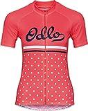 Odlo Stand Collar S/S Full Zip Fujin Print Shirt, Damen M Dubarry/Retro