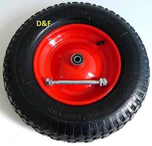 Wheelbarrow Pneumatic Tyres 4.80/4.00-8with Axle Diameter 380mm92mm wide200kg Test