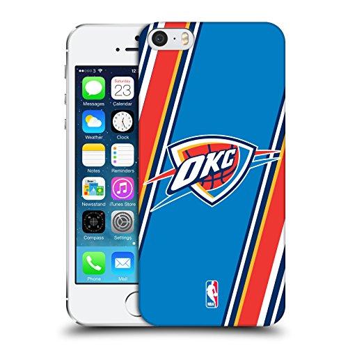 Ufficiale NBA Rovinato Oklahoma City Thunder Cover Retro Rigida per Apple iPhone 7 / iPhone 8 Righe